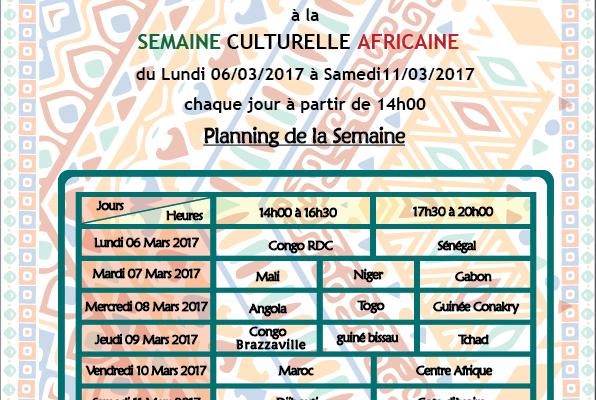 Affiche Semaine Culturelle Africaine