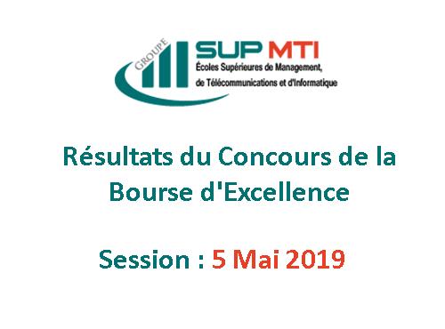 Résultats du Concours des Bourses d'Excellence, Session 05 Mai 2019